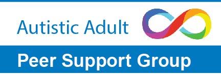 Autistic Adult Peer Support Group; rainbow infinity symbol