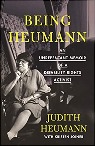 "book jacket, ""Being Heumann"""