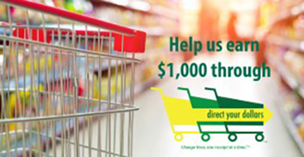 "shopping cart ""Help Us Earn $1,000 thourgh Direct Your Dollars"""