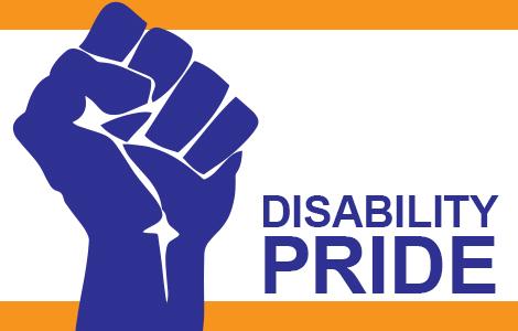 Disability Pride (image of raised fist)