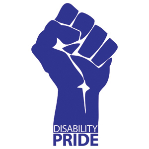 """Disability Pride"" fist"