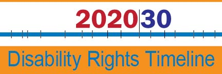 2020|30 Disability Rights Timelin