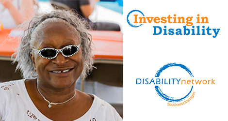 Eva. Text: Investing in Disability