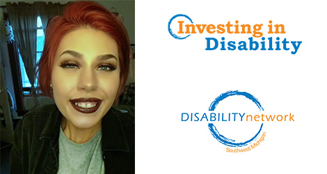 Shelby. Text: Investing in Disability