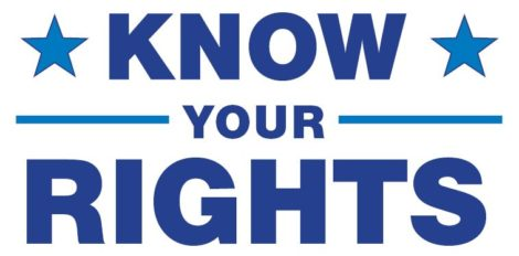 text graphic: Know Your Rights