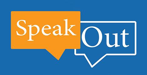 speech bubbles: Speak Out