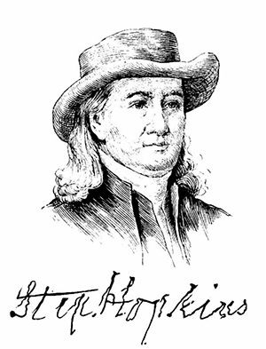 Stephen Hopkins (drawing and signature)