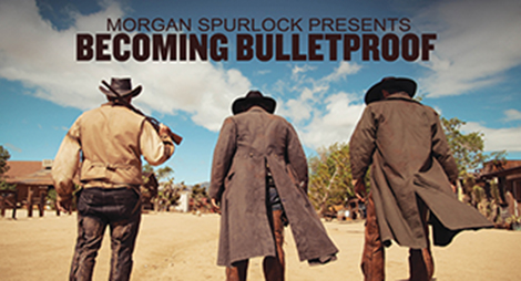 Western gunfighter scene with text: Becoming Bulletproof.