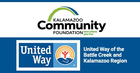 logos for Kalamazoo Community Foundation and UWBCKR