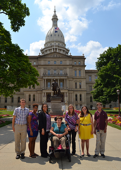 Advocacy in front of State Capitol